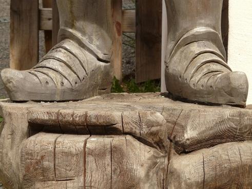 feet shoe wood
