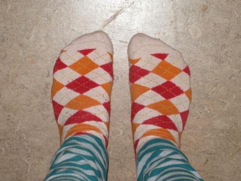 feet socks checkered
