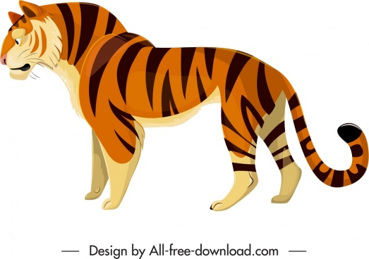 felidae creature icon cartoon tiger sketch
