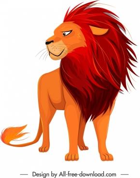 feline species icon cartoon lion sketch