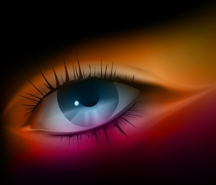 eye painting colored closeup design