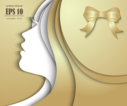 female face multilayer background vector