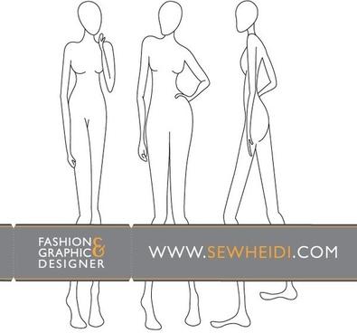 Female Fashion Croquis / Blank Fashion Sketches