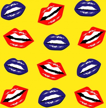 female lips background mouth teeth icons