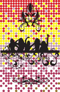 female silhouette vector the trend pattern