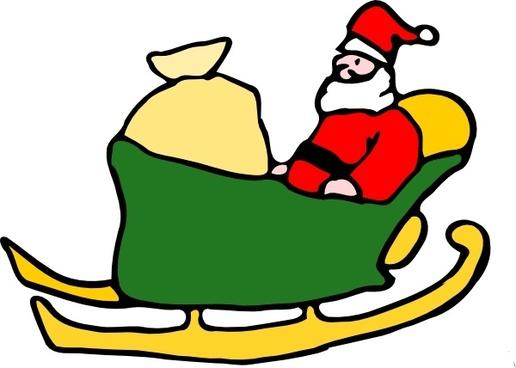 Fen Santa In His Sleigh clip art
