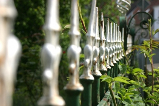 fence metal old