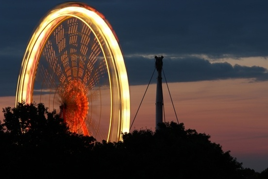 ferris wheel olympic park long exposure