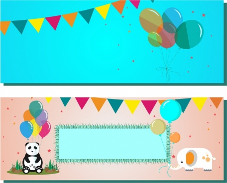 festival background sets colorful balloon decoration cartoon style