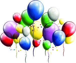 festival balloons background set