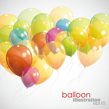 festival elements of colorful balloon illustration vector
