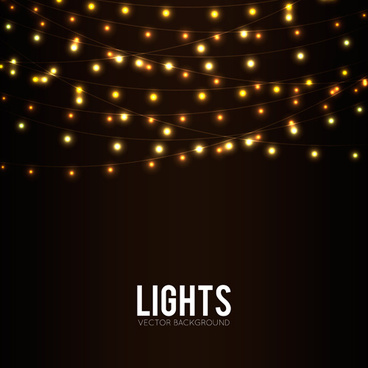 festival hanging lights vector background art