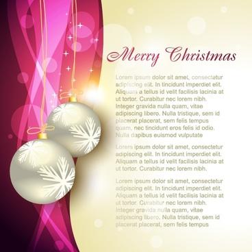 christmas banner elegant sparkling bokeh bauble balls decor