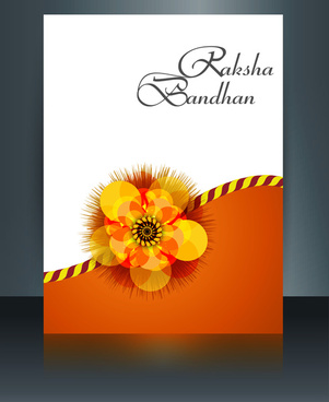 festival raksha bandhan template brochure colorful design