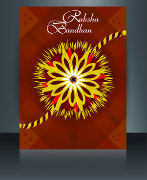 festival raksha bandhan template brochure colorful design