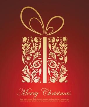 festive gift 02 vector
