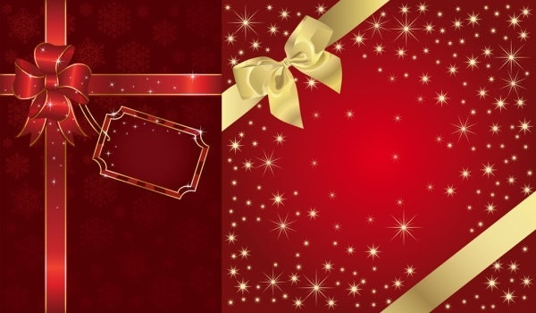 festive packaging background vector