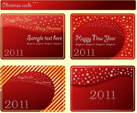 festive red card template vector