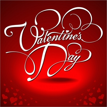 festive valentine background vector wordart