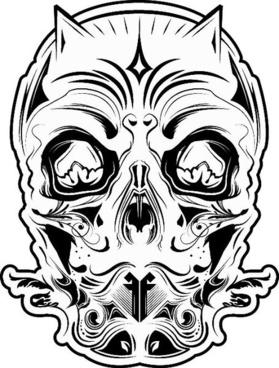 FF 26: Devil Skull Black and White
