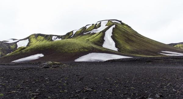 field frozen grass hill ice landscape mountain