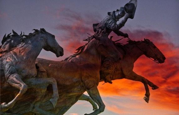 fiery sky horses