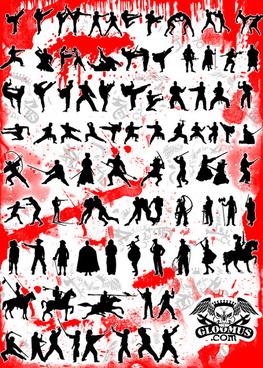 fight figure vector