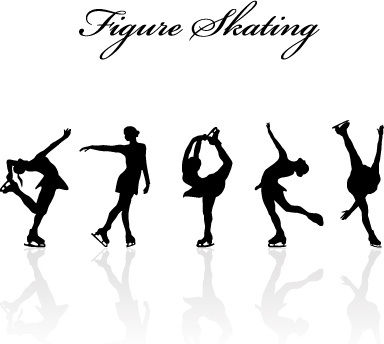ice skating silhouette free vector download (6,090 free vector