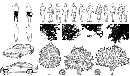 figure the trees vector