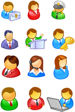 figure user icon vector