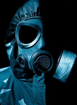 figure wearing a gas mask picture 2