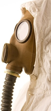 figure wearing a gas mask picture 5