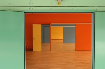 filled with walls and doors of the trend of color quality picture