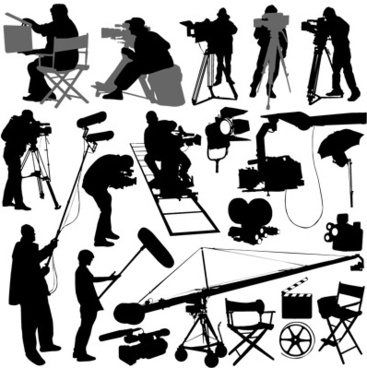 film elements with people vector graphic