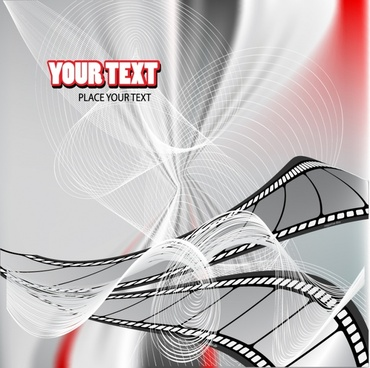 film festival banner modern 3d twisted motion decor