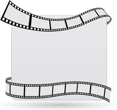 film with blank background vector