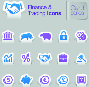 finance and trading icons vector