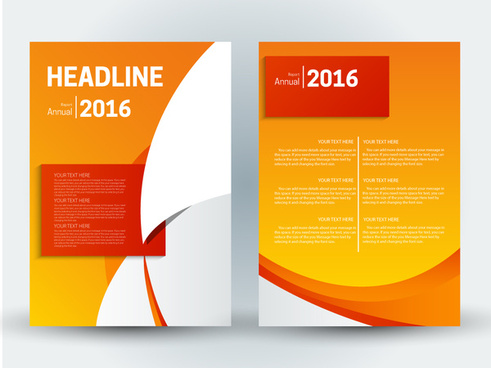 finance brochure design with orange background