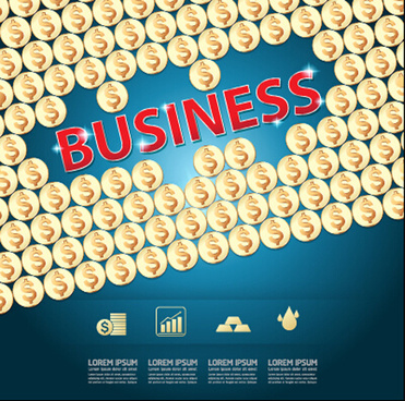finance business template concept vector