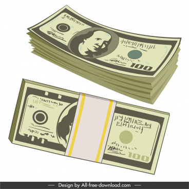 finance design elements dollar cash sketch classic design
