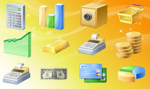 Finance Icons set icons pack