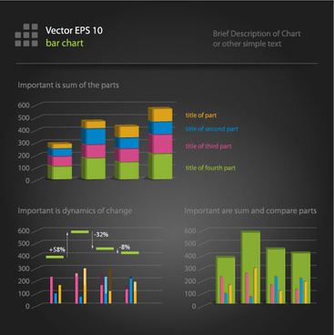 financial data chart free vector