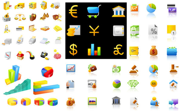 financial icon vector vector