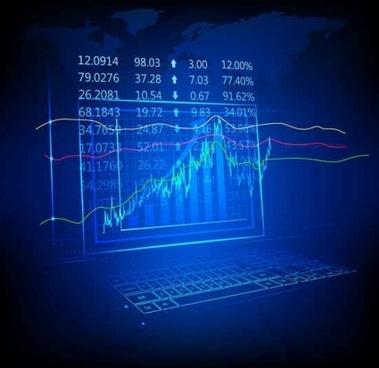 financial infographics chart vector template