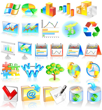 financial statistics class icon vector