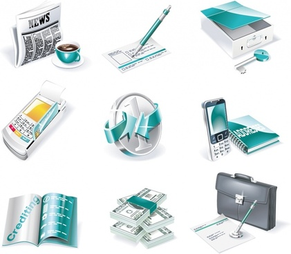 business design elements modern 3d objects design