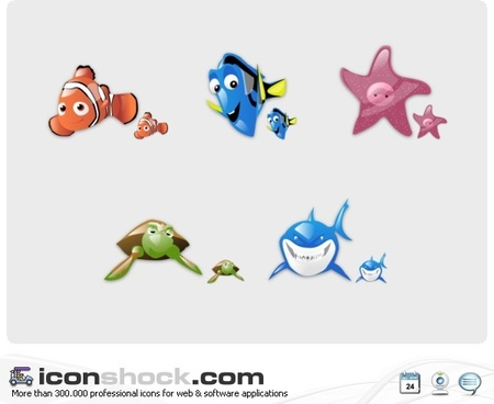 Findin Nemo Vista Icons icons pack