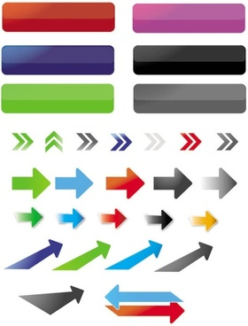 fine arrows and buttons vector