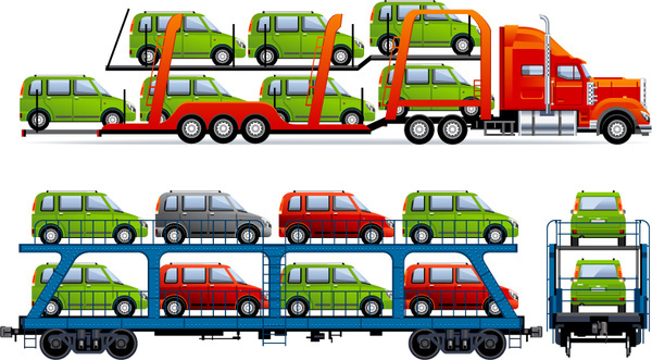 fine automobile car vector