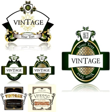 fine bottle label vector